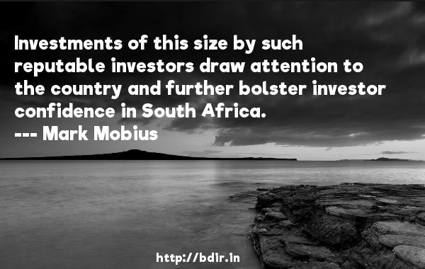 Mark Mobius Investments Of This Size By Such Reputable Investors