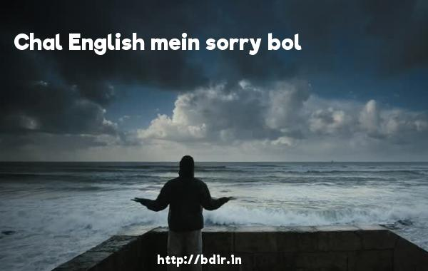 Chal English mein sorry bol - Shor In The City