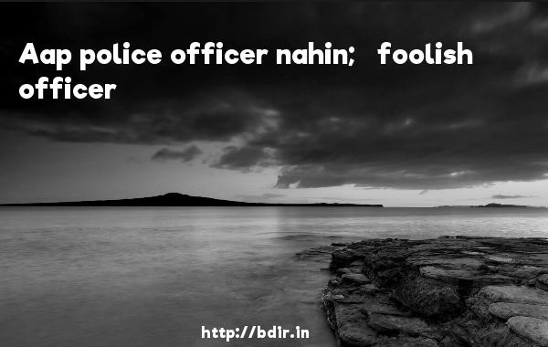 Aap police officer nahin;   foolish officer - Golmaal