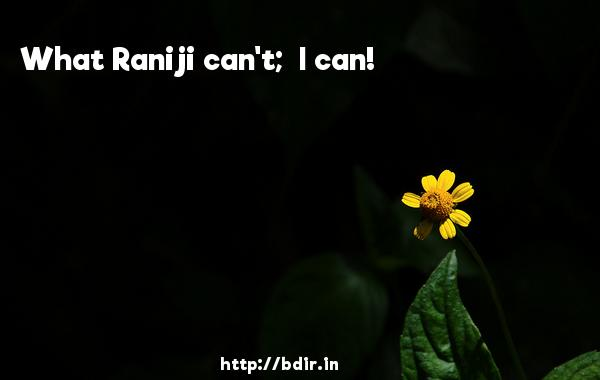 What Raniji can't;  I can! - Chashme Baddoor (2013)